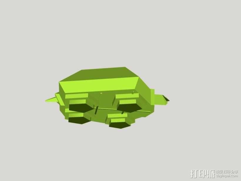 五边形海龟 3D模型  图3