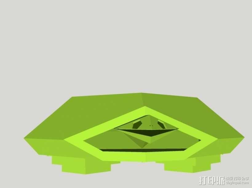 五边形海龟 3D模型  图1
