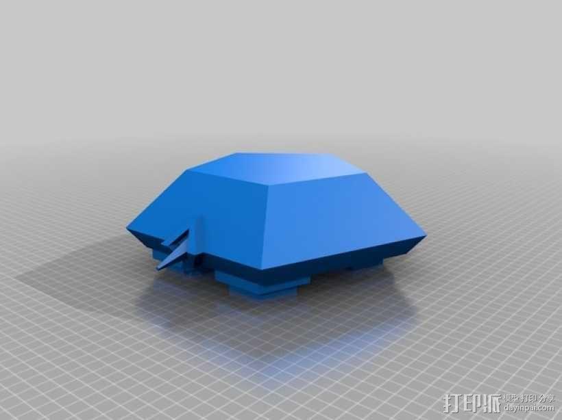 五边形海龟 3D模型  图2
