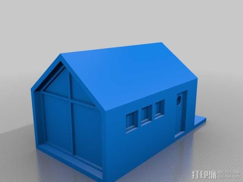 底层架空房屋模型 3D模型  图1