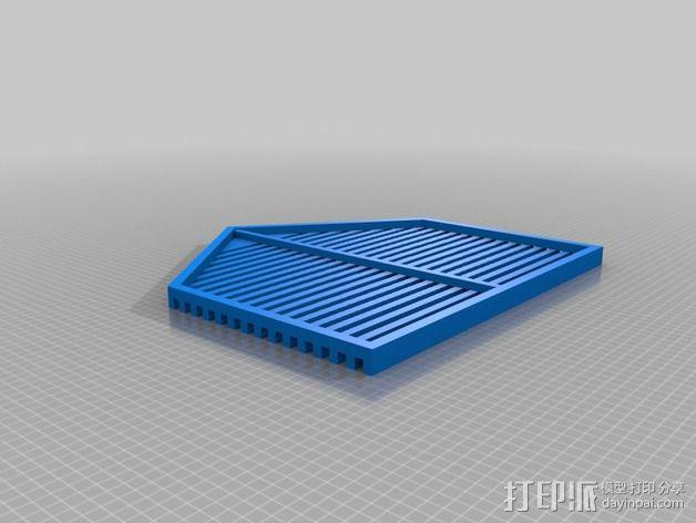 底层架空房屋模型 3D模型  图3