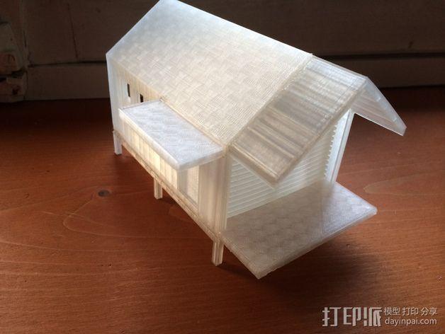 底层架空房屋模型 3D模型  图6