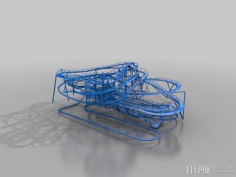 太空山过山车 3D模型  图2