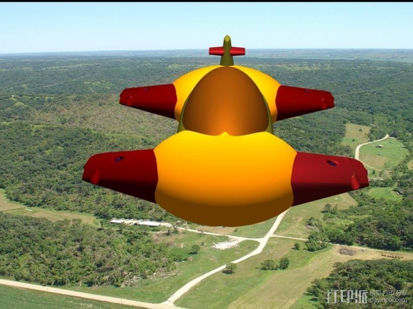 混合动力飞艇 3D模型  图3