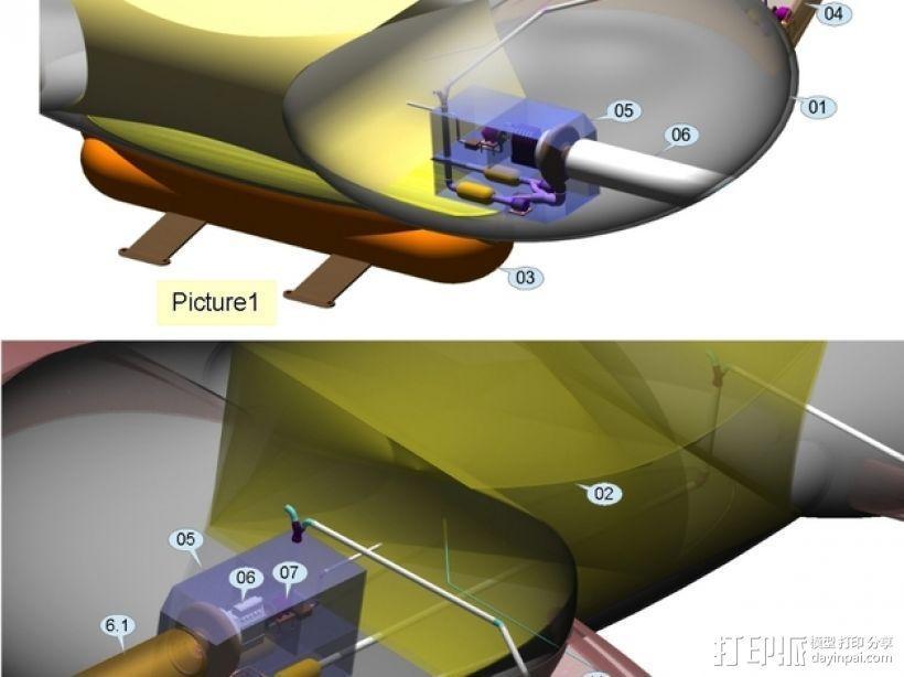 混合动力飞艇 3D模型  图5