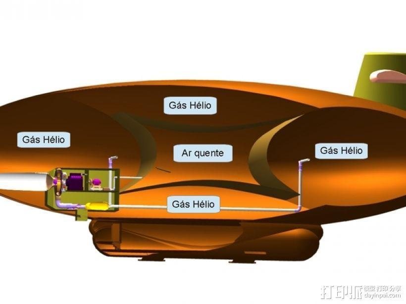 混合动力飞艇 3D模型  图4