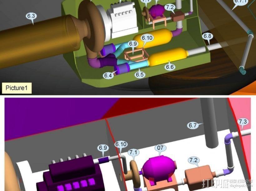 混合动力飞艇 3D模型  图10