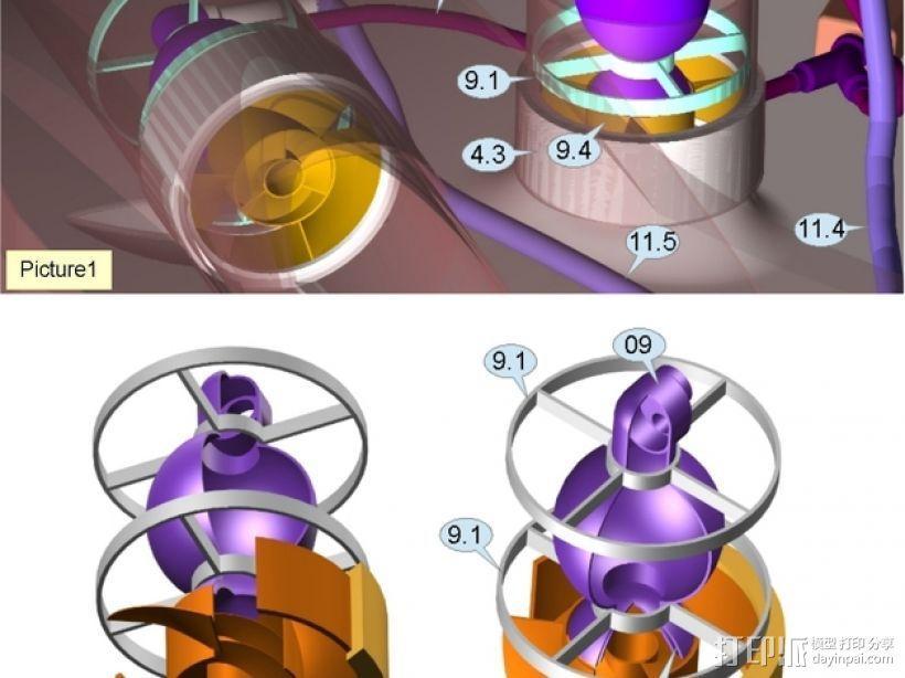 混合动力飞艇 3D模型  图13