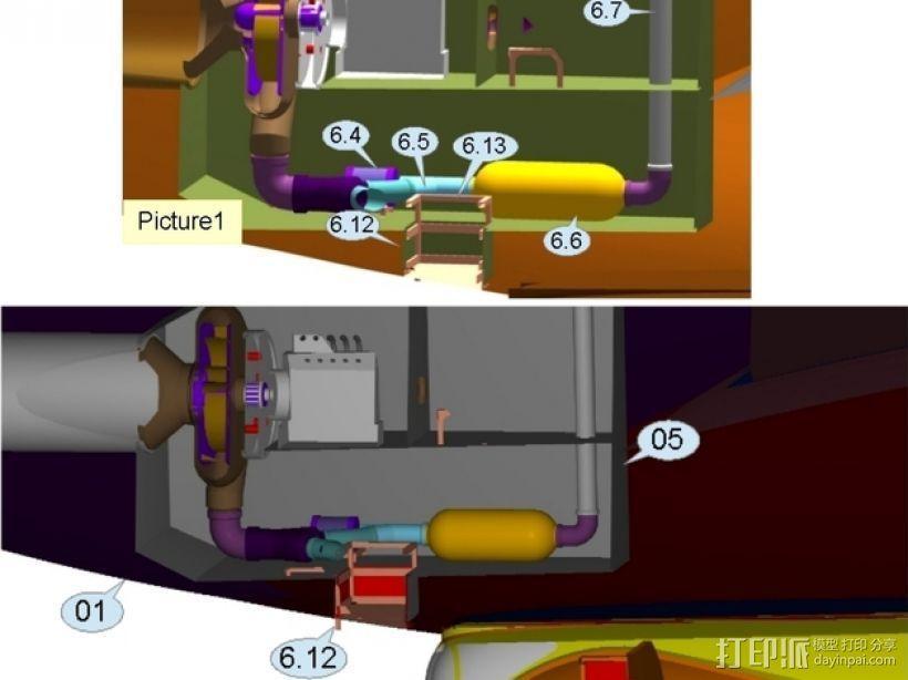 混合动力飞艇 3D模型  图16