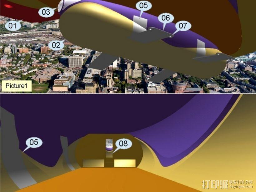 混合动力飞艇 3D模型  图15