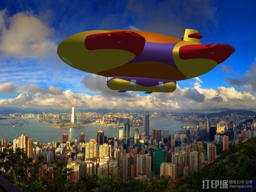 混合动力飞艇 3D模型  图17