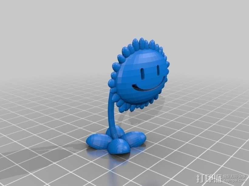 太阳花  3D模型  图4