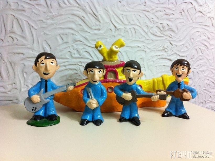 甲壳虫乐队和黄色潜水艇 3D模型  图1