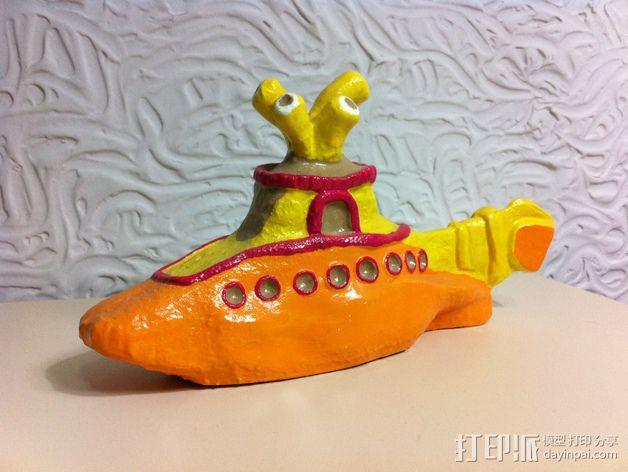 甲壳虫乐队和黄色潜水艇 3D模型  图7