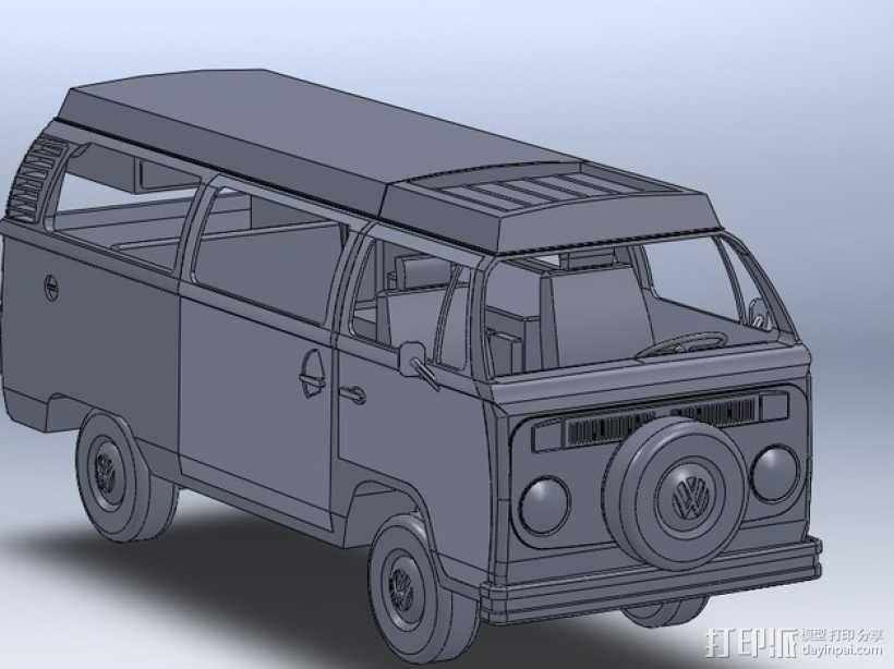 露营车 巴士 3D模型  图1