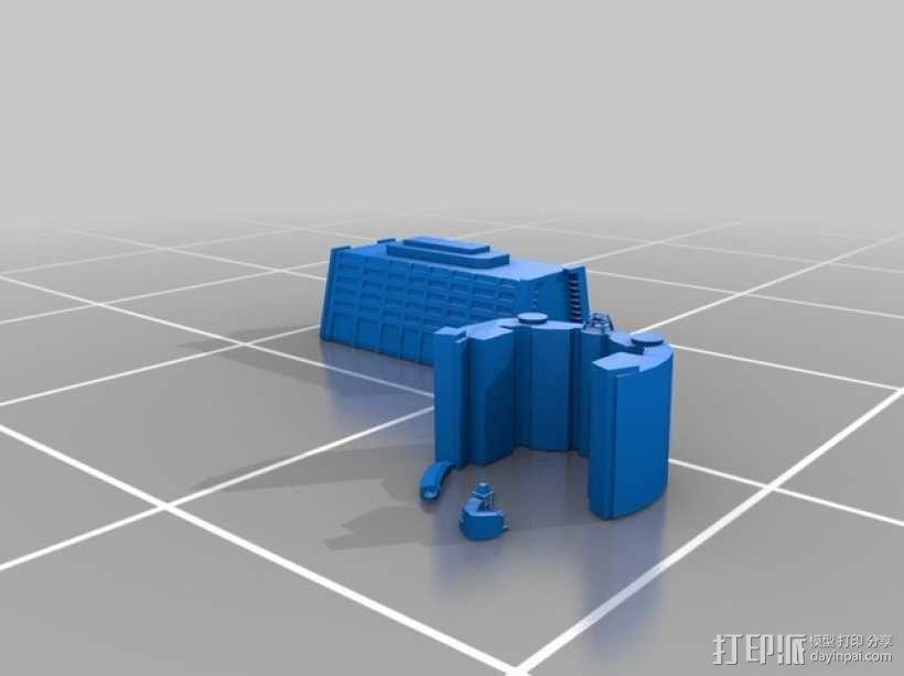 迪士尼当代酒店和湾胡塔 3D模型  图1