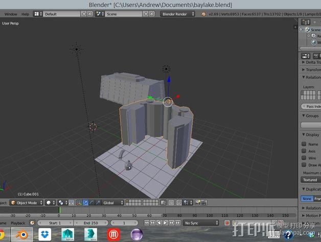 迪士尼当代酒店和湾胡塔 3D模型  图5