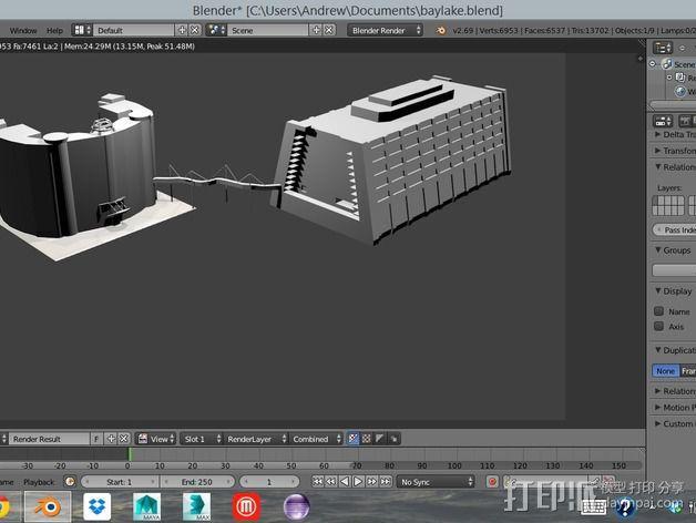迪士尼当代酒店和湾胡塔 3D模型  图7