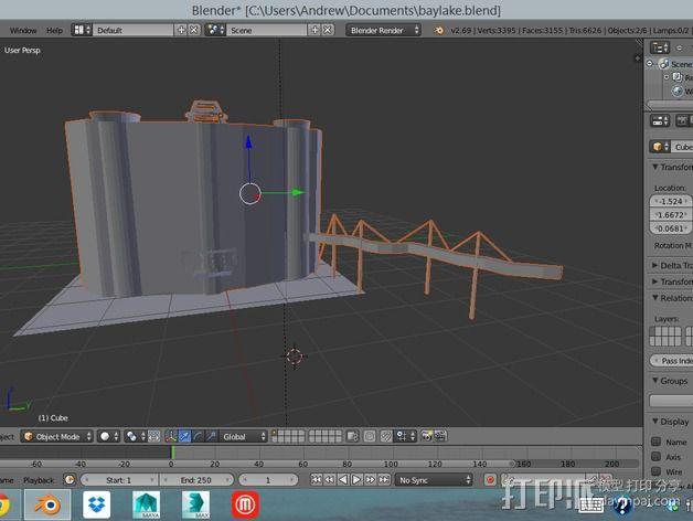 迪士尼当代酒店和湾胡塔 3D模型  图8