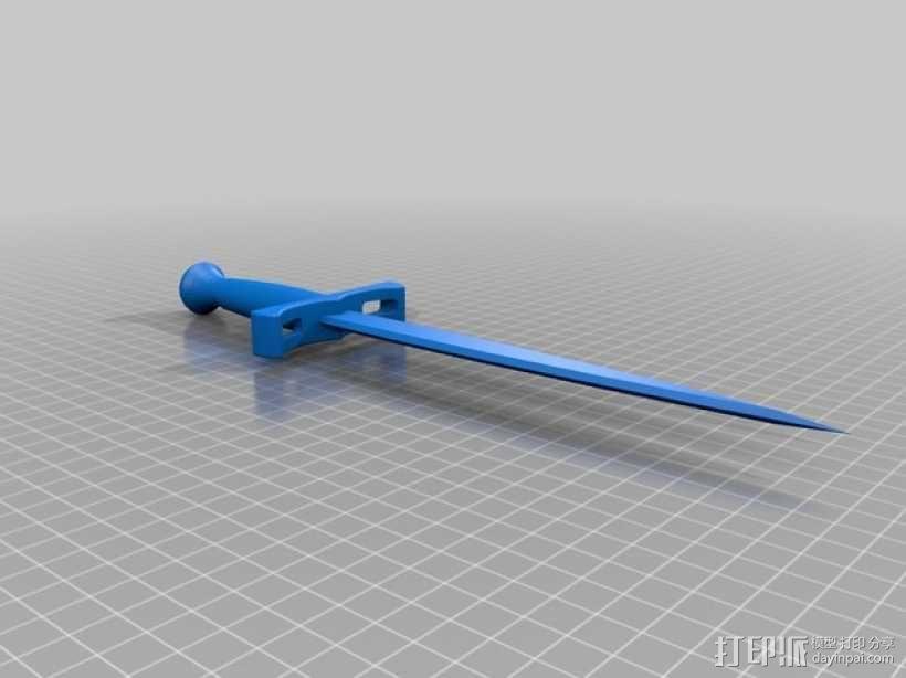 短剑  3D模型  图1
