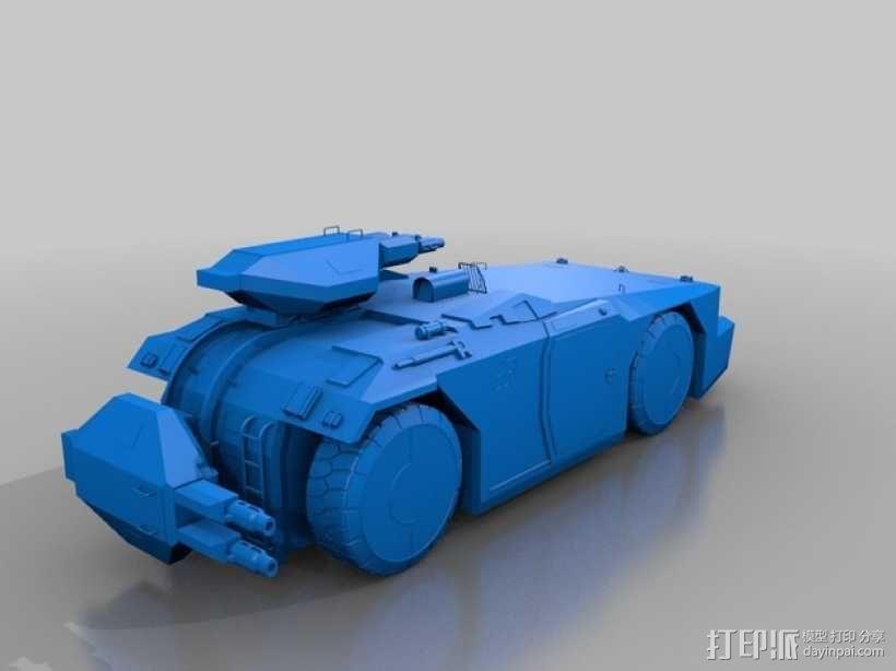 装甲运兵车 坦克 3D模型  图1