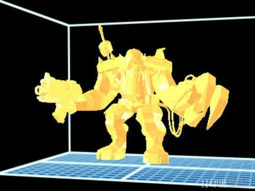 魔兽争霸兽族人模型 3D模型  图1