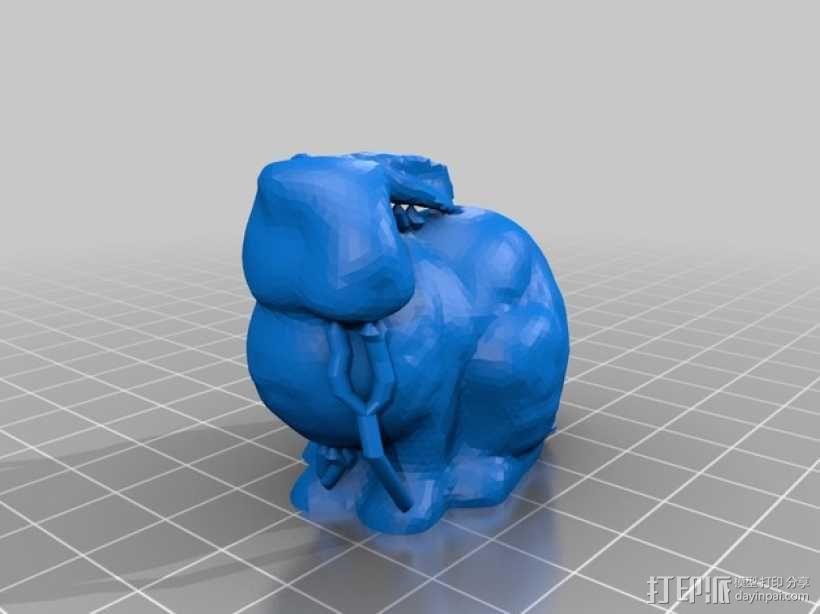 小白兔  3D模型  图2