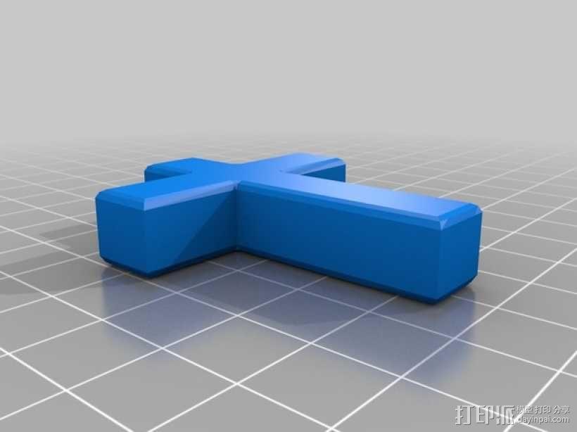 墓地十字架 3D模型  图2