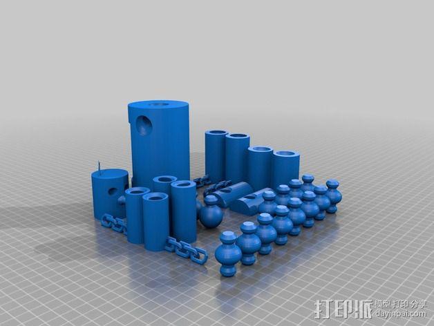 木头人 3D模型  图1