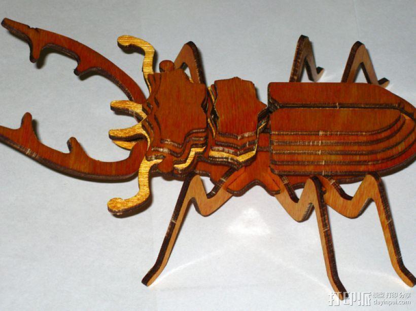 鹿角虫 3D模型  图1