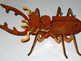 鹿角虫 3D模型