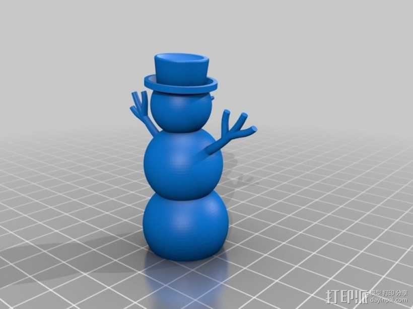 雪人  3D模型  图2