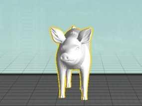 猪 3D模型