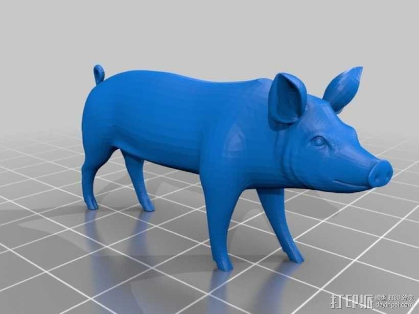猪 3D模型  图2
