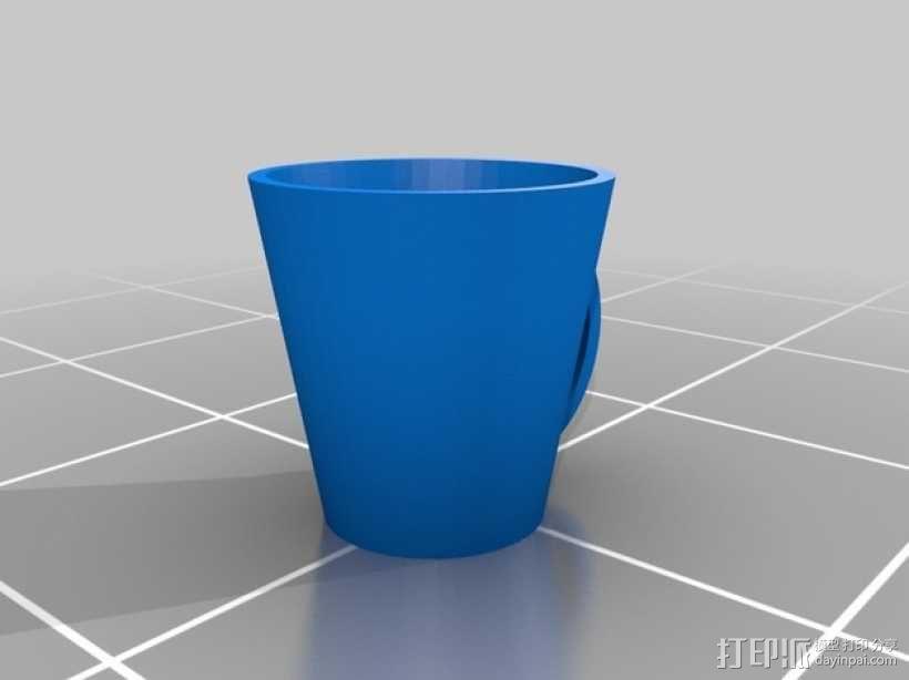 马克咖啡杯 3D模型  图2