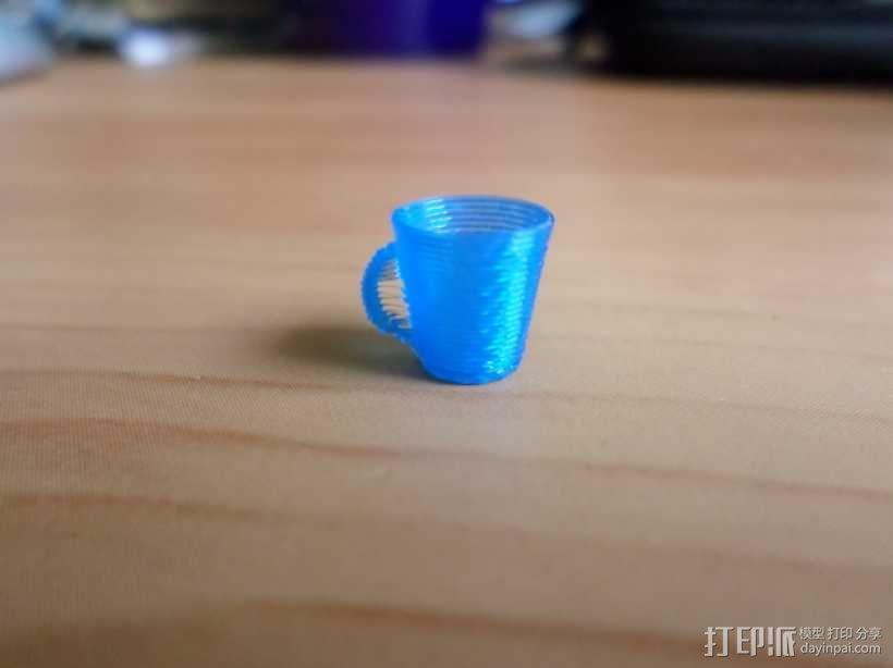马克咖啡杯 3D模型  图1