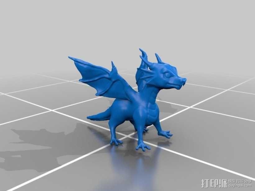 龙宝宝模型 3D模型  图2