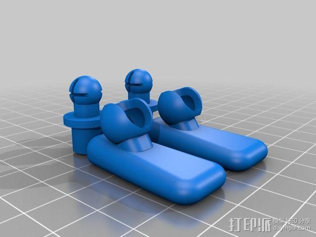 手脚可动的机器人 3D模型  图4