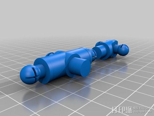 手脚可动的机器人 3D模型  图2