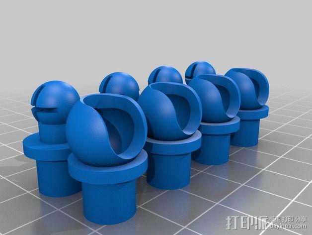 手脚可动的机器人 3D模型  图3