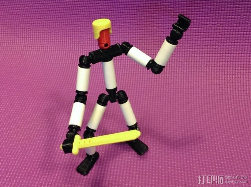 手脚可动的机器人 3D模型  图1