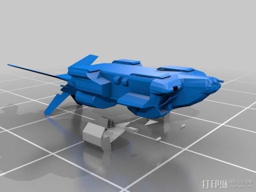 外星人运输机 3D模型  图4