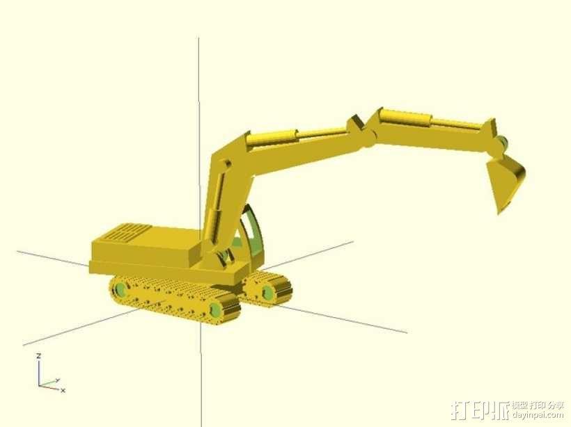 挖掘机 3D模型  图3