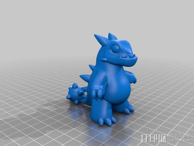 卡通版霸王龙模型 3D模型  图2