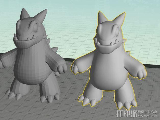 卡通版霸王龙模型 3D模型  图3