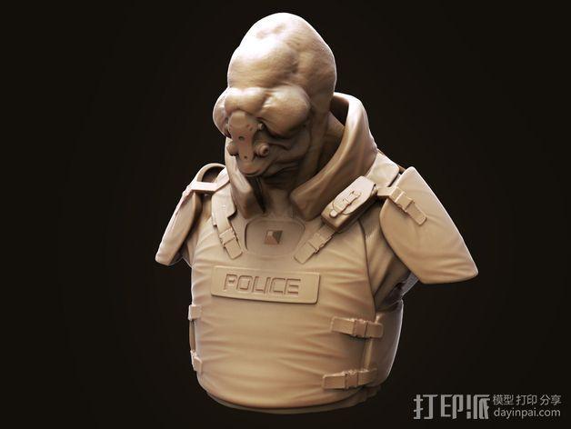 Bent Copper外星人模型 3D模型  图7