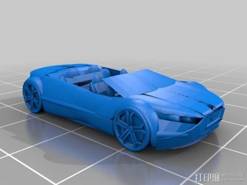 奥迪轿跑 3D模型  图1