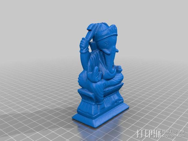 象神格涅沙 3D模型  图1