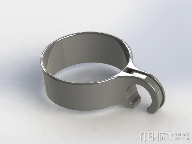 咖啡杯托 3D模型  图2