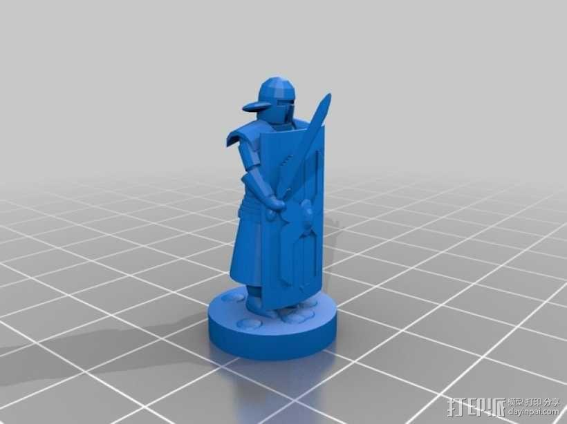 罗马士兵 3D模型  图1